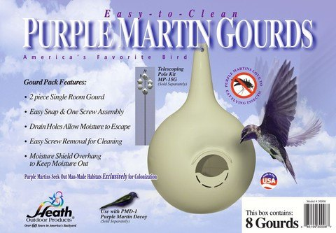 Purple Martin House Gourds 8 Pack