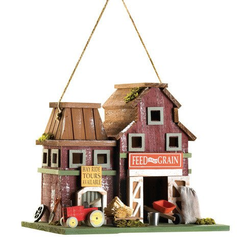 Farmstead Wood Barnyard Bird House