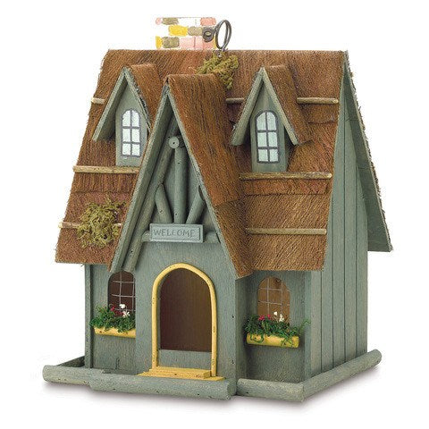 Thatch Roof Chimney Bird House
