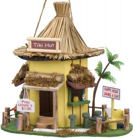 Tiki Wood Bird House