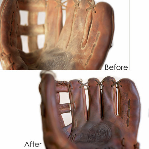 scratches baseball glove