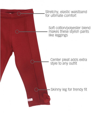 Ruffle Butts Cranberry Ponte Pants