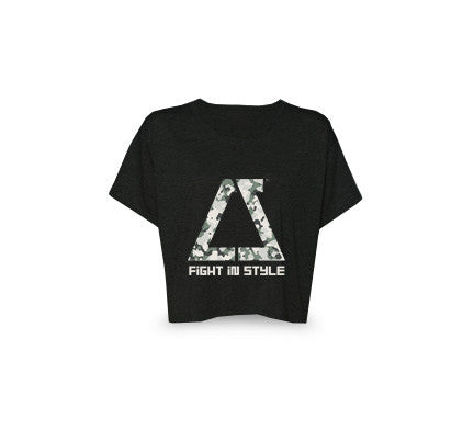 Fight in Style Army Crop Top