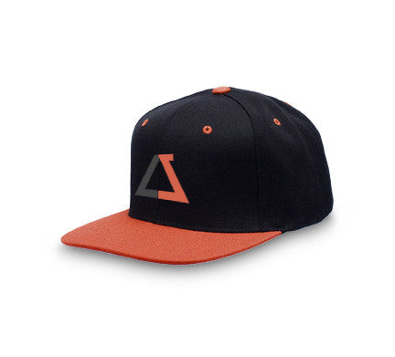 Black/Orange Chozen Style Snapback