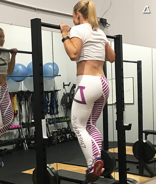 Chozen Style Leggings (Purple & White)