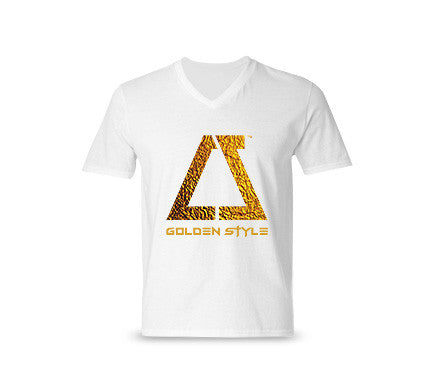 Golden Style V-neck T-shirt
