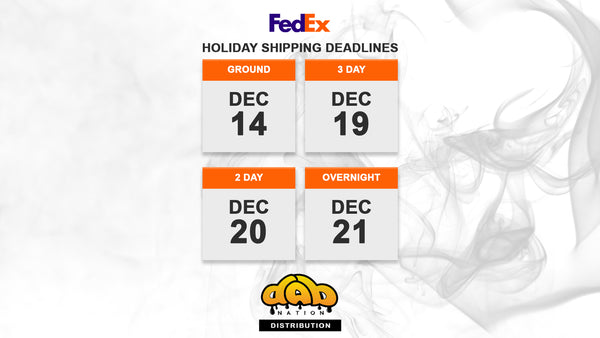 DAB NATION FEDEX SHIPPING DEADLINES