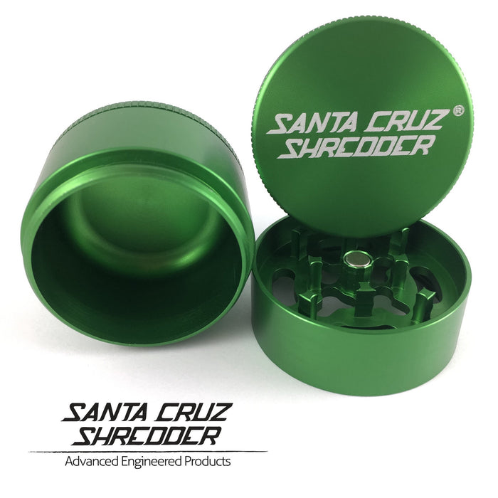 Santa Cruz Shredder Small 3-Piece Herb Grinder - Green