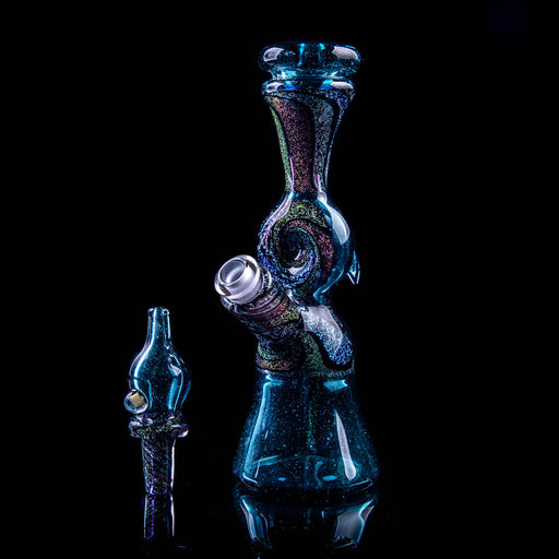Gabereal Glass Blue Stardust/Dichro Rig 10mm