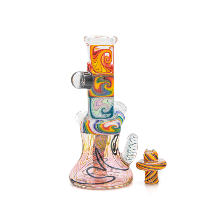 Augy Glass Wig Wag Mini Tube Rigs with Carb Cap