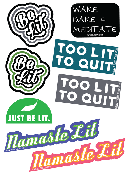 Be Lit Sticker 5/Pack!belitbrandbelitbrand