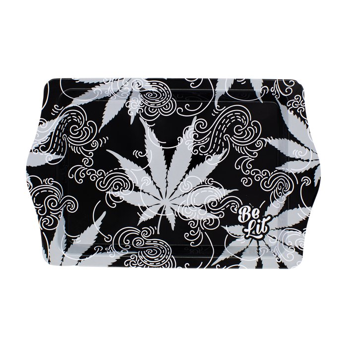 Be Lit Travel Rolling Tray, Leaves and SmokebelitbrandBe Lit Brand