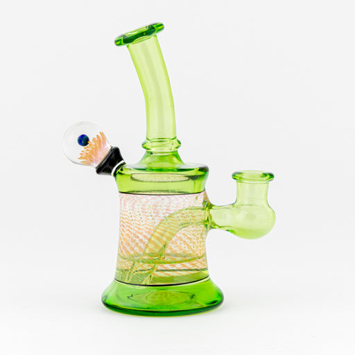 Buck Lee Glass Wax RigsGreen Bubble Trap Fume 14mm Female