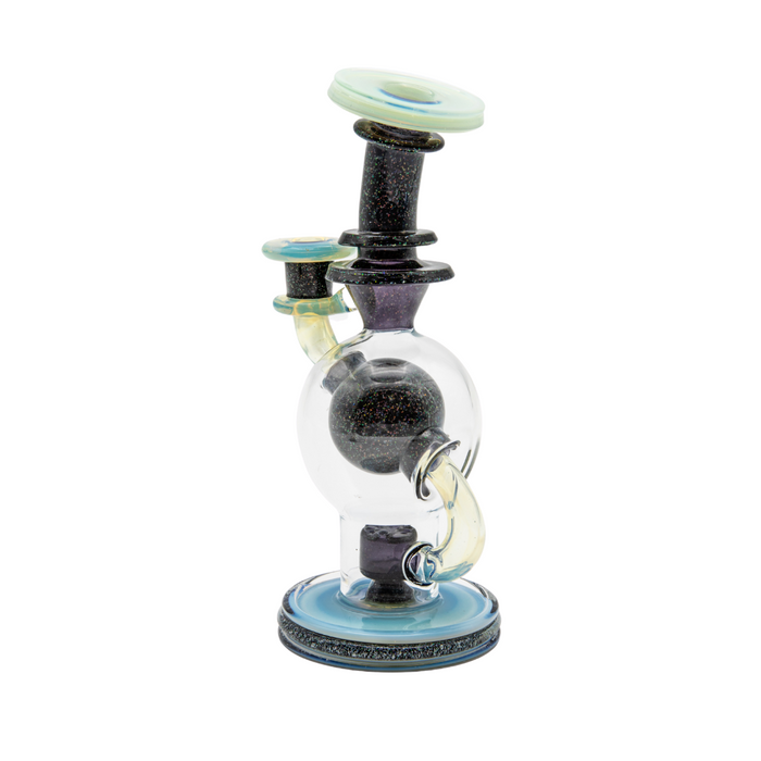 DBE503 Glass Crushed Opal Mini Rig - 10mm