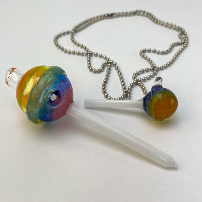 Glass Lollipop Dab Tool Pendant Set from Emperial