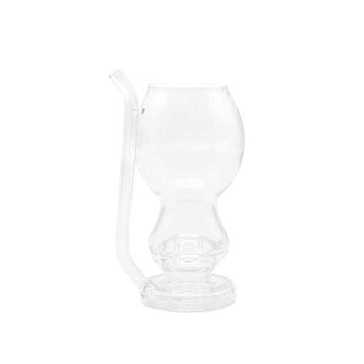Ery Glass Heady Cup Dab Rig with Straw  - Clear