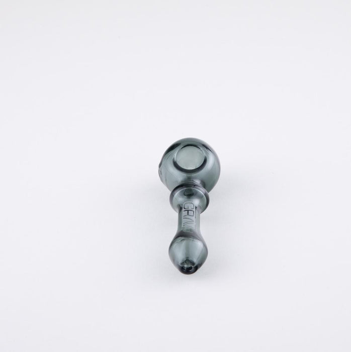Grav Bauble Glass Spoon Hand Pipe - Grey