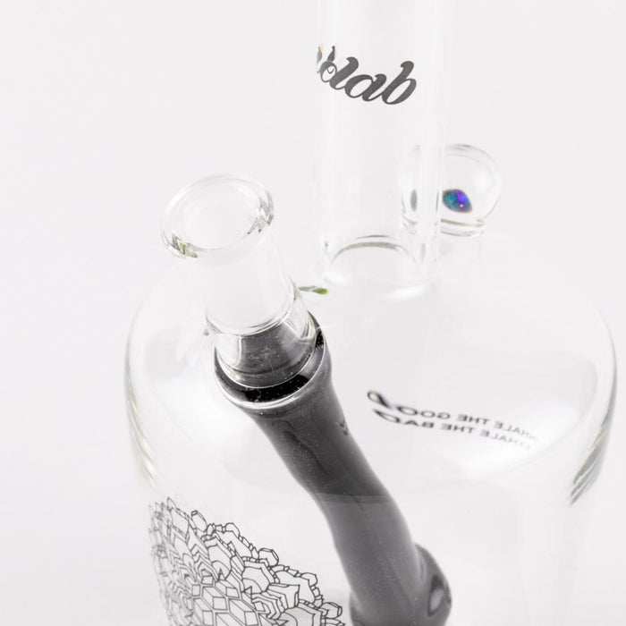 iDab Henny Bottle Dab Rig - Medium(Opal + Lip Wrap) (downstem matching lip)  10mm
