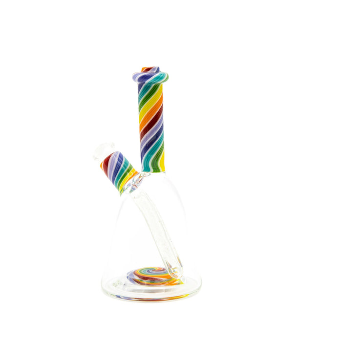 Knappy Glass Clear Beaker Rig w/ Line Work