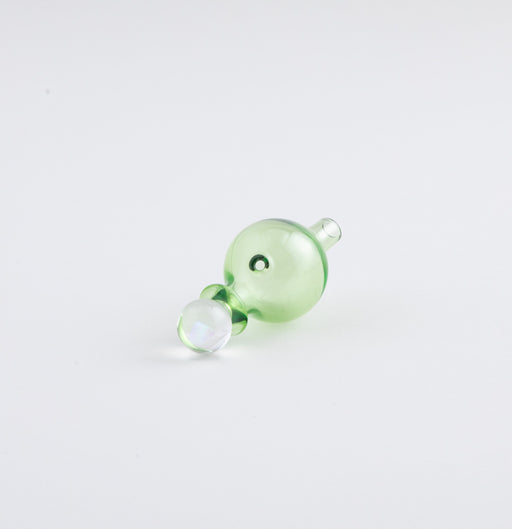 Organik Colored Glass Bubble Cap with OpalGreen