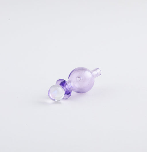 Organik Colored Glass Bubble Cap with OpalPurple