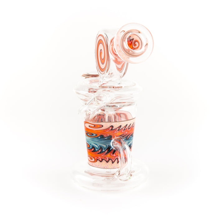 Christian Otis Glass Clear with Color Accents Klein Recycler Rigs