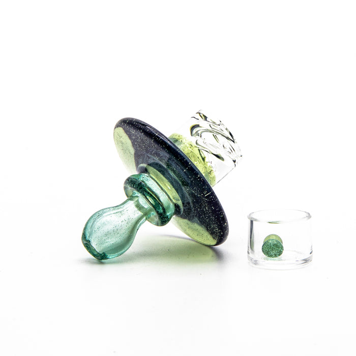 Simpal Glass Spinner Cap- Double Color