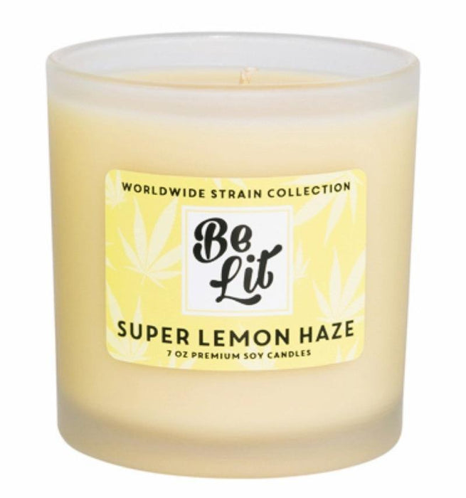Be Lit Premium 7oz Odor Eliminating Terpene Candle, Super Lemon Hazebelitbrandbelitbrand