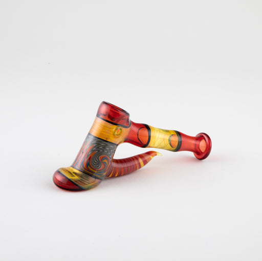 Uncle Dad Red & Yellow Hammer Pipe with Rainbow Wig Wag