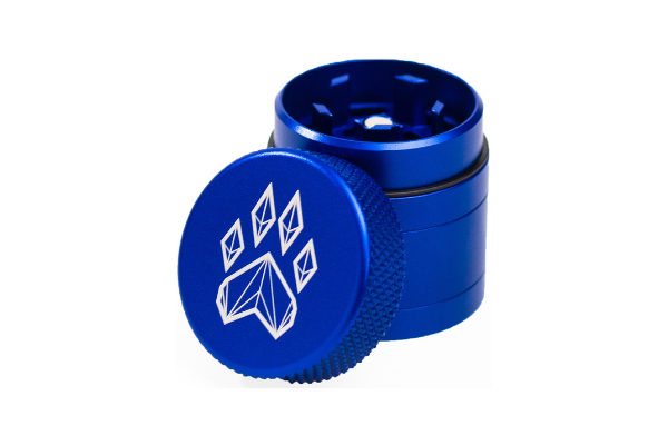 Wolf Traditional 4-Piece Herb Grinder - Small - Blue