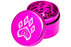 Wolf Traditional 4-Piece Herb Grinder - Pink