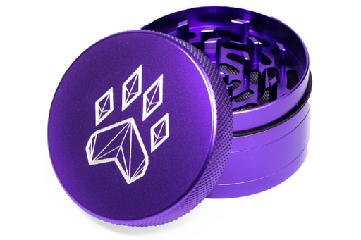 Wolf Traditional 4-Piece Herb Grinder - Purple