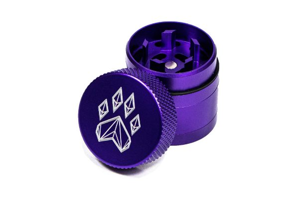 Wolf Traditional 4-Piece Herb Grinder - Small - Purple