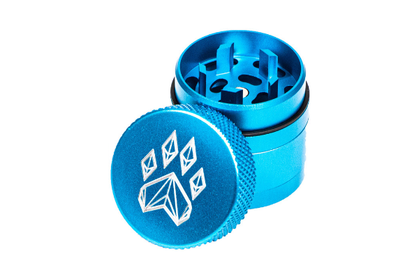 Wolf Traditional 4-Piece Herb Grinder - Small - Teal