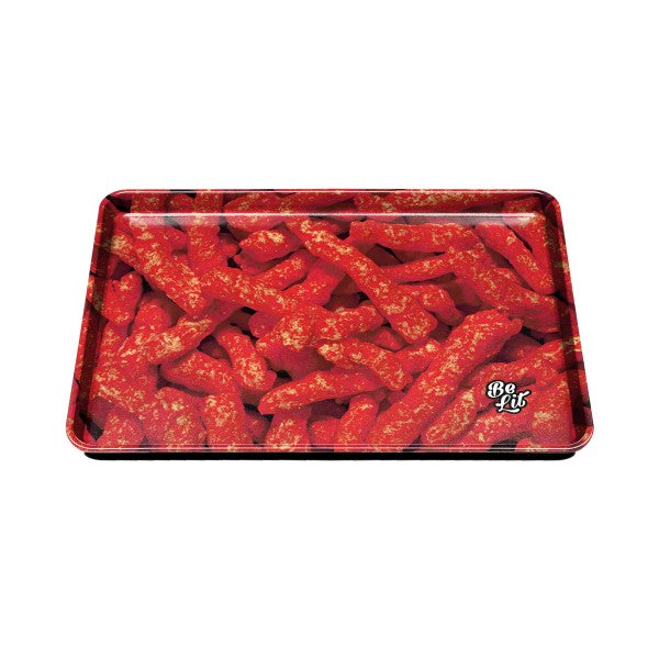 Be Lit Large Rolling Tray, Flaming Hot