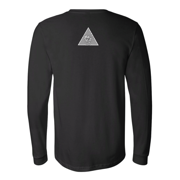 Be Lit Long-Sleeved Black Tee, Wake/Bake/Meditate
