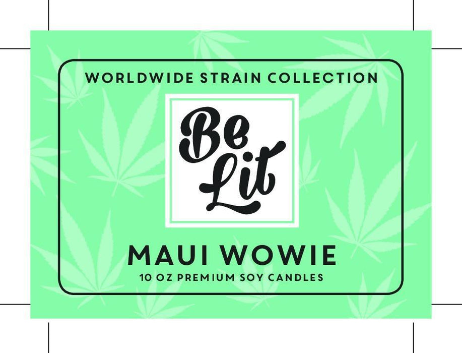 Be Lit Premium 7oz Odor Eliminating Terpene Candle, Maui Wowiebelitbrandbelitbrand