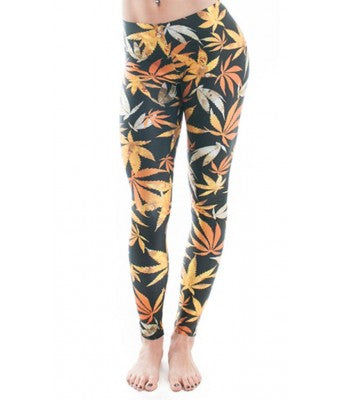 MMJCO Errl Leaf Print Leggings