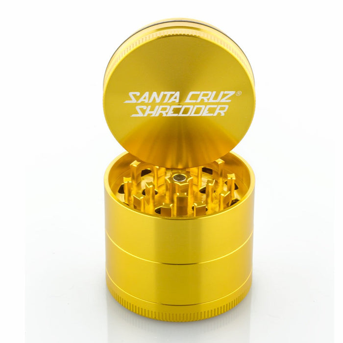 Santa Cruz Shredder Medium 4 Piece Gold Herb Grinder