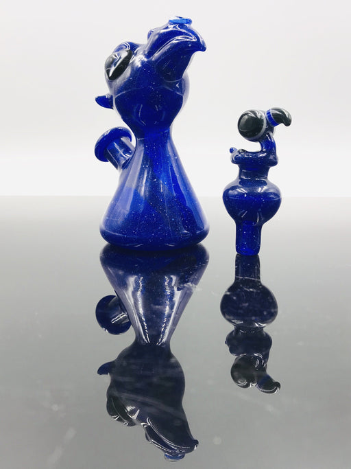 David Blang Glass Mini Dab Rigs w/Carb CapBlue Bird