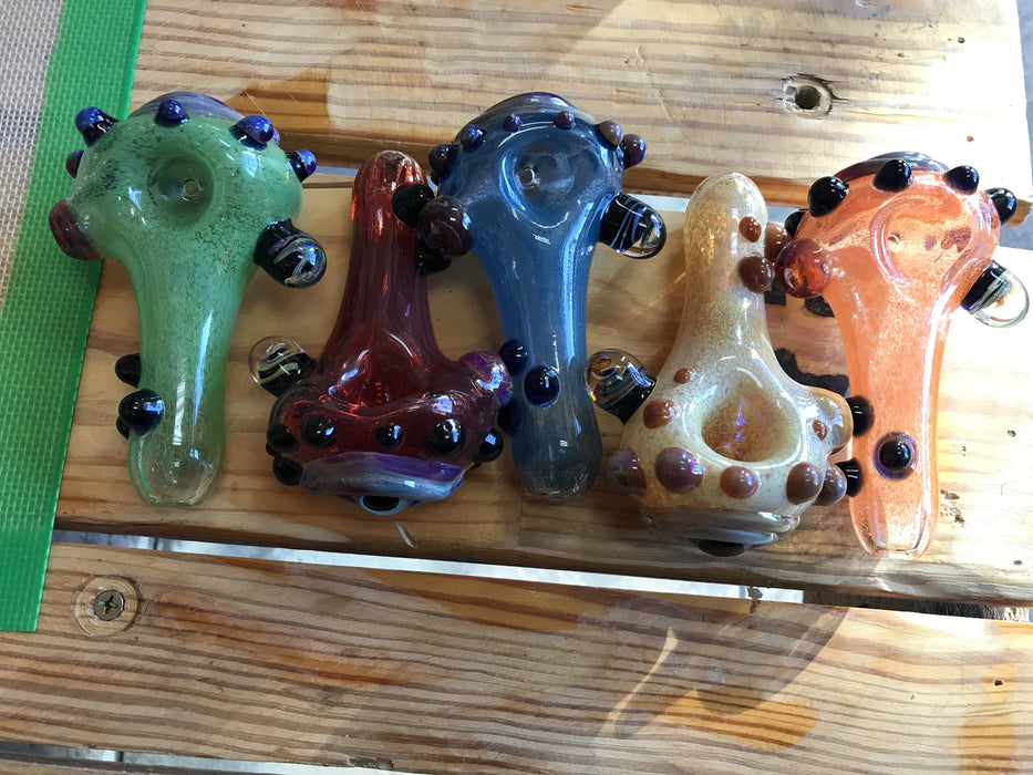 Inspiration is Key Spoon Pipes by Horrified Glass