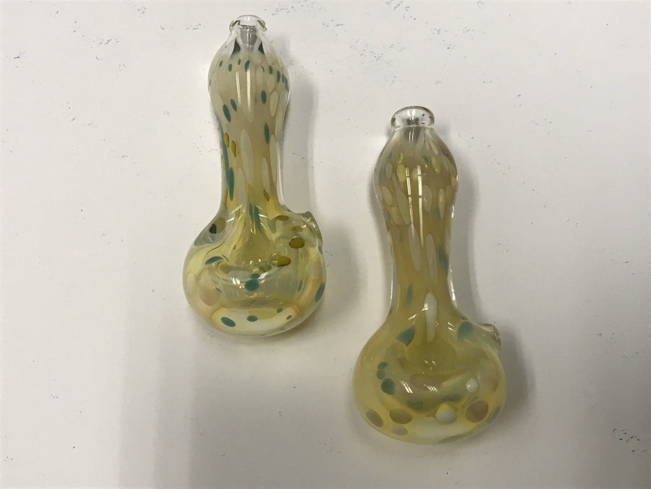 TKO Glass Goldy Dots Hand Pipe