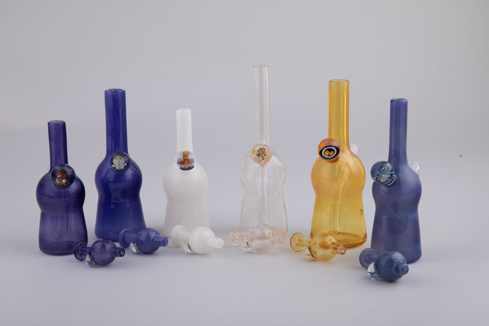 Keys Glass Grommer Millie Mini Dab Rig Tube Sets with Bubble Cap
