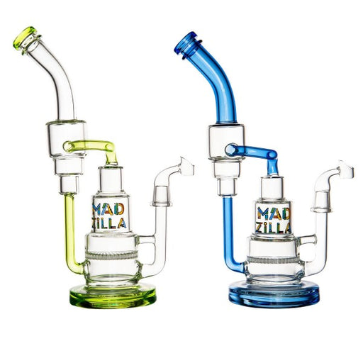 Madzilla Glass Recycler Rig w/ Showerhead Perc 5mmGreen