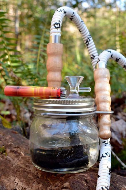 Glass Lung Mason Jar Hookah Bong