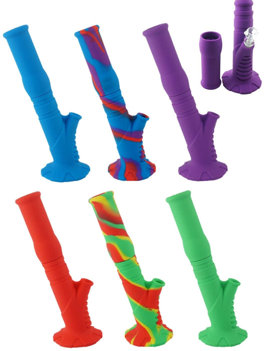"Silicone 14"" Water Pipe, The Tilt, Standard Colors"