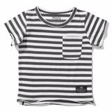 Striped Tee | Munster Kids | Grey + Wild | Troupe