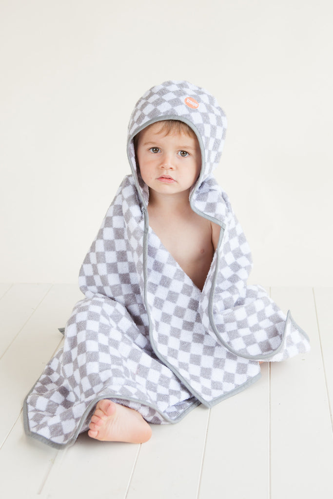 Troupe Kids Hooded Towel - Checkerboard