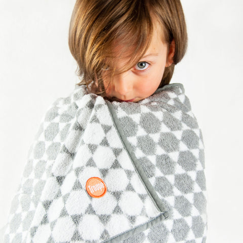 Kids Towel - Grey Honeycomb