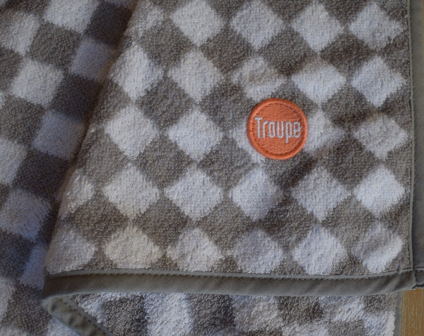 Kids Towel - Grey Checkerboard